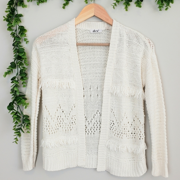 Dex Other - Dex Boho Tassle Knit Cardigan